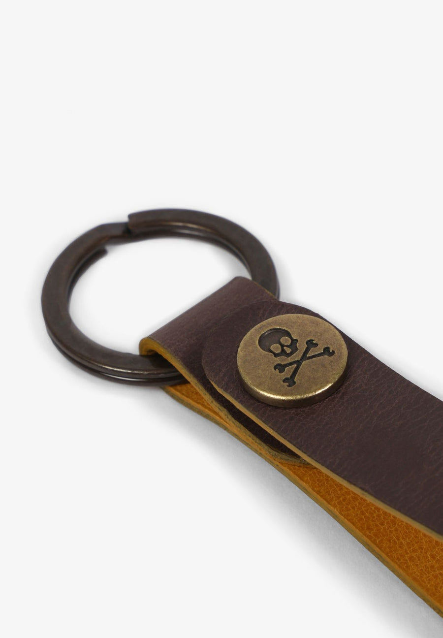 LEATHER KEYCHAIN WITH SNAP BUTTON