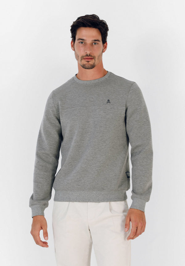 NEOPRENE EFFECT SWEATSHIRT