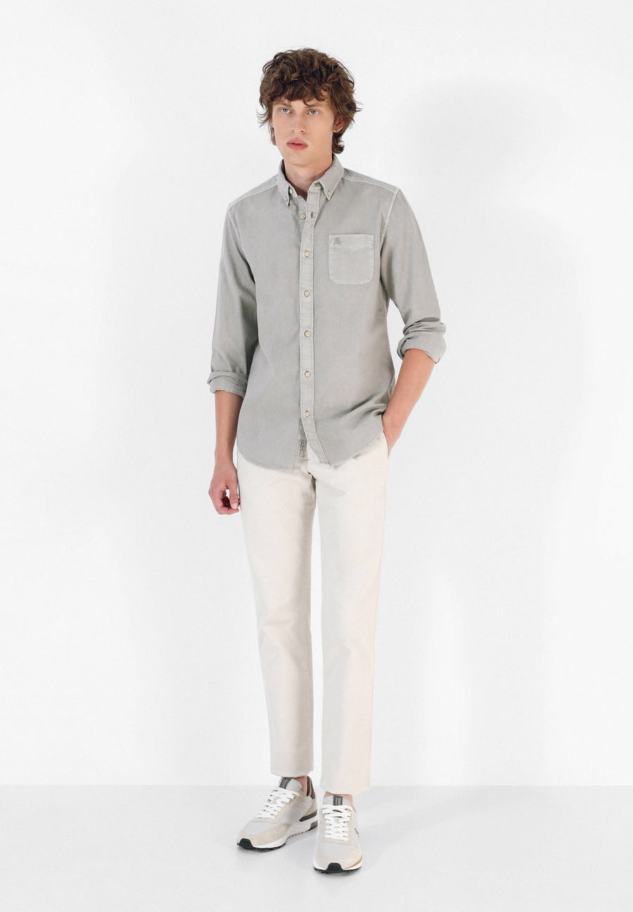 SHIRT WITH BUTTON-DOWN COLLAR