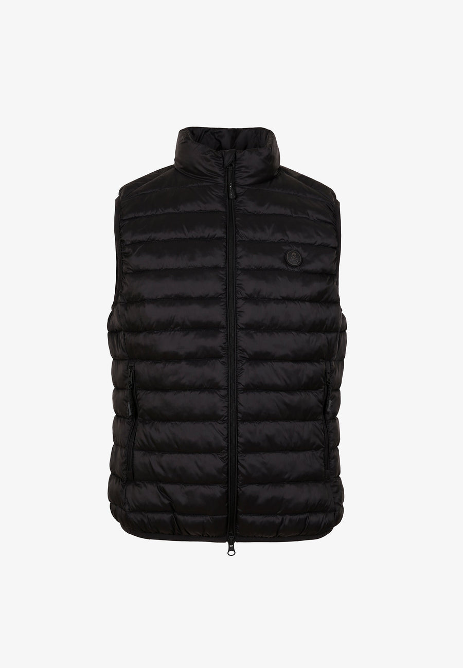 PUFFER VEST WITH SKULL
