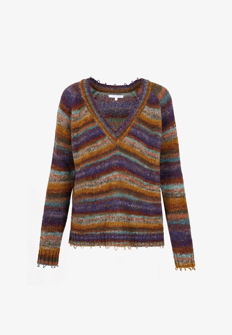 COLOURED STRIPES SWEATER