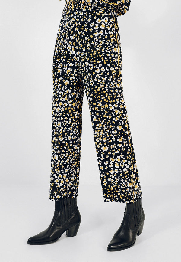 ANIMAL PRINT PYJAMA-STYLE TROUSERS