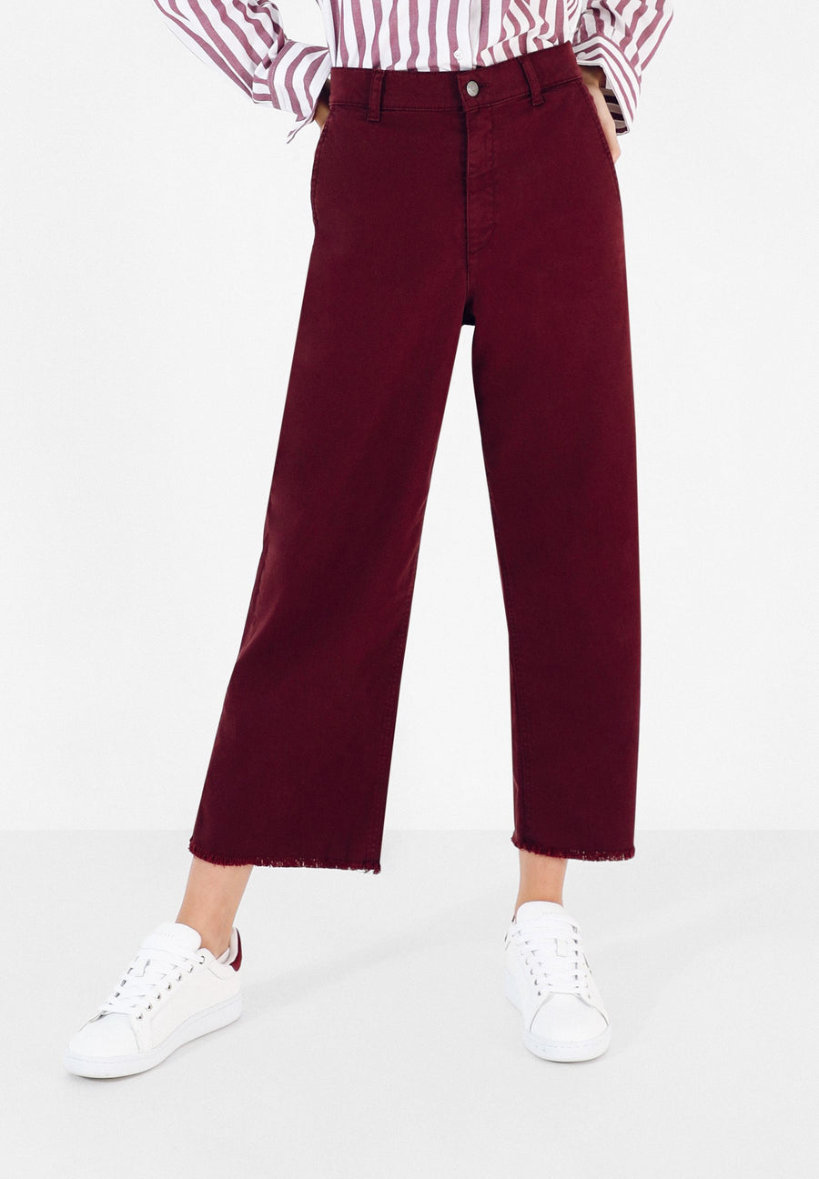 HIGH WAIST CULOTTE TROUSERS
