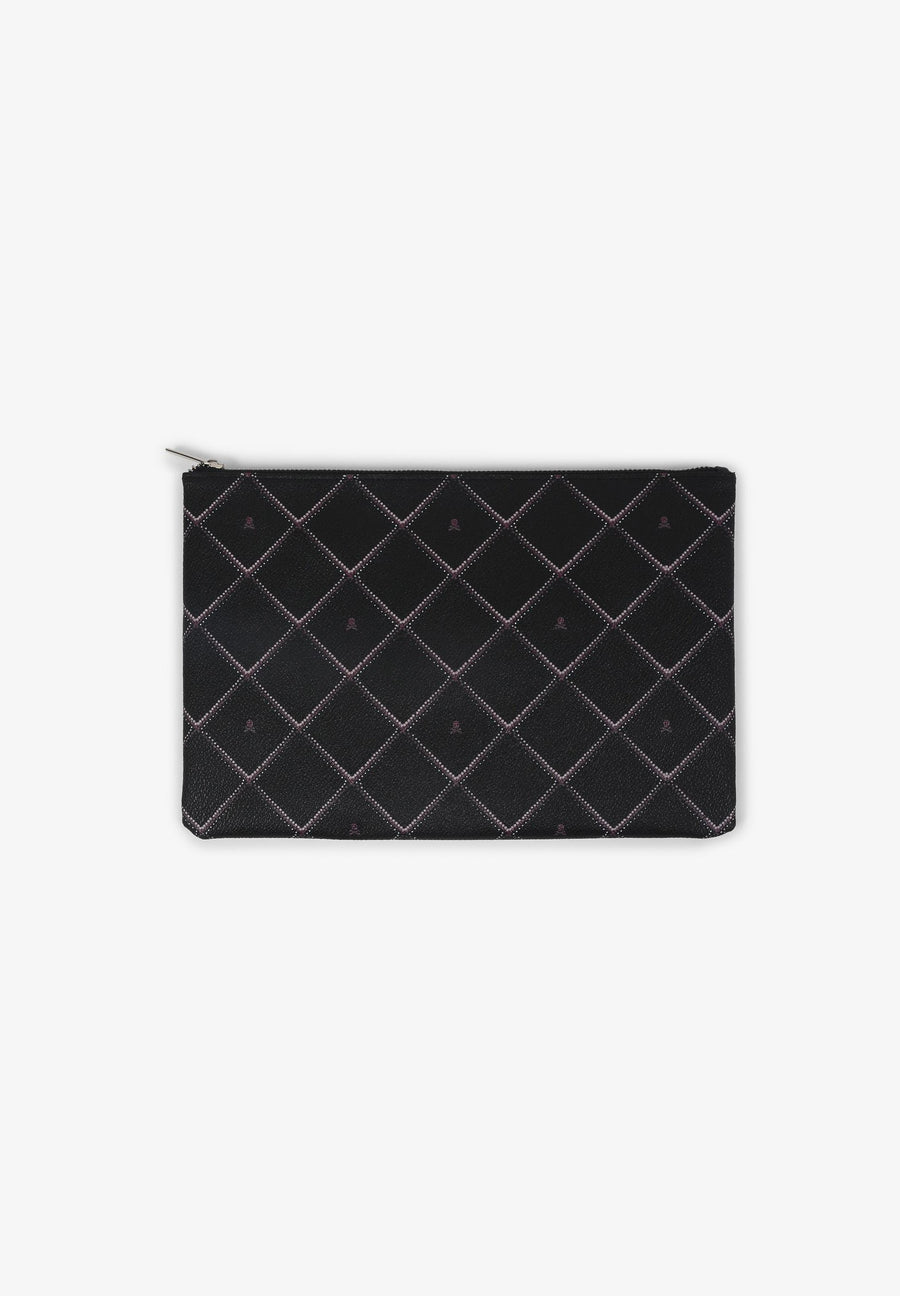IPAD CASE WITH DIAMOND MOTIFS