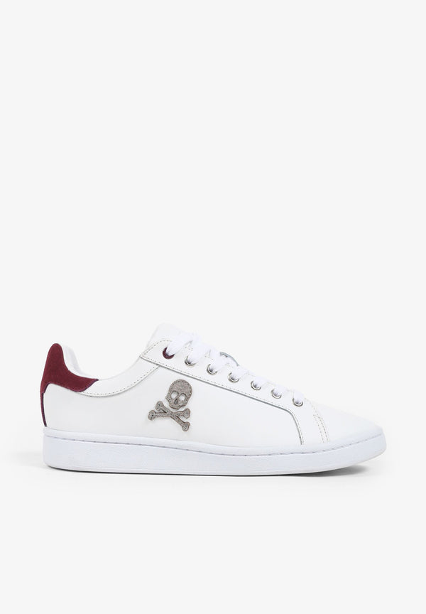 CONTRAST LEATHER SNEAKERS