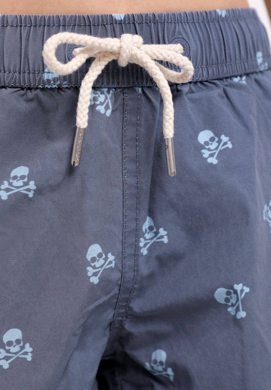 SWIMMING TRUNKS WITH ALL-OVER SKULLS