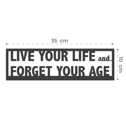 medallero de metal - live your life and forget your age
