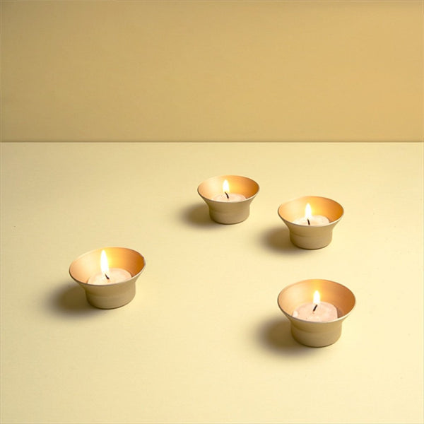 Coolpebbles - Set de 4 velas decorativas con base de aluminio - Set Cazuela