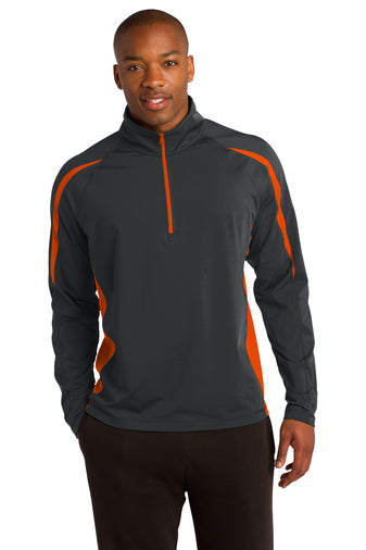 LiFE is NOW Men's Sport Wicking Colorblock 1/2 Zip