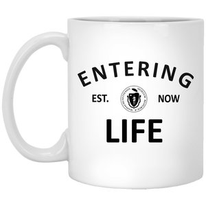 Entering Life 11 oz. White Mug