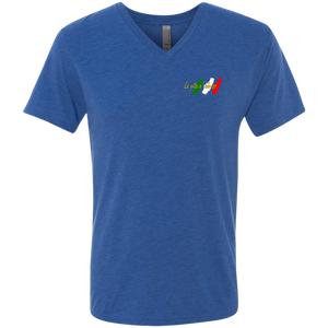 Italian Gold chest Men's Triblend V-Neck T-Shirt