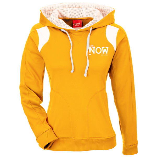 LiFE is NOW Ladies' Colorblock Poly Hoodie