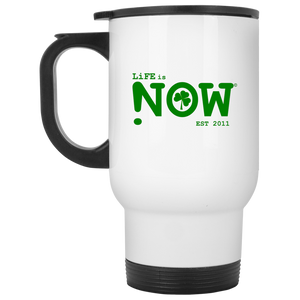 Shamrock LiFE is NOW White Travel Mug