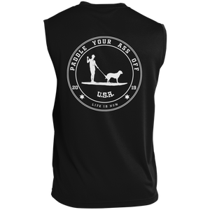 Paddle Your Ass Off Sleeveless Performance T-Shirt