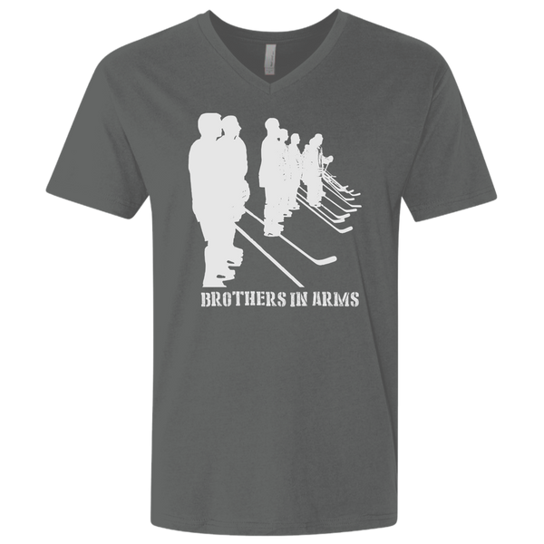 Brothers In Arms Men's Premium Fitted SS V-Neck