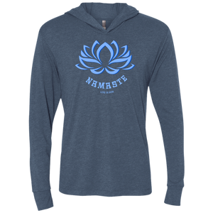 Lotus Namaste Unisex Triblend LS Hooded T-Shirt