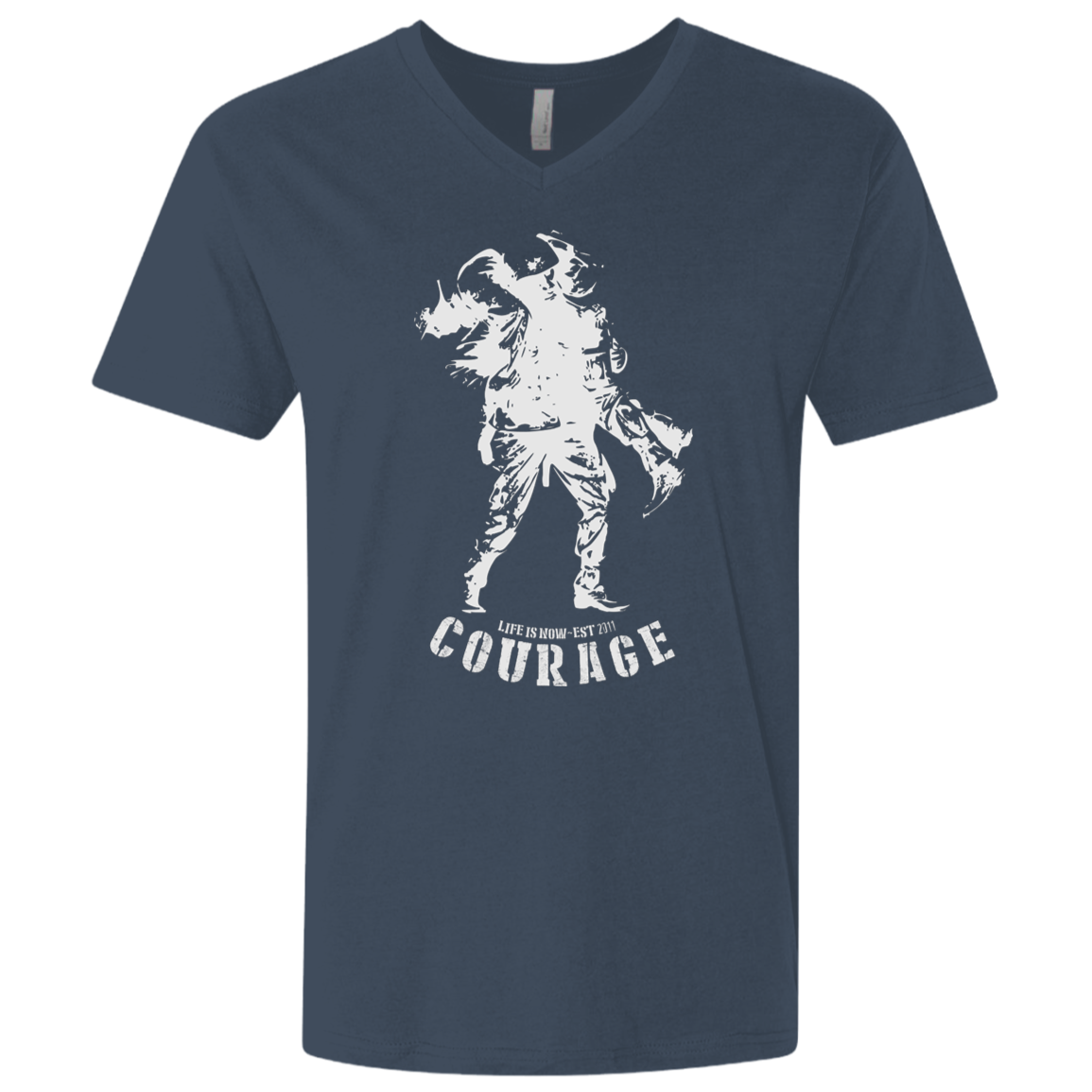 Soldier Courage Men's Premium Fitted SS V-Neck