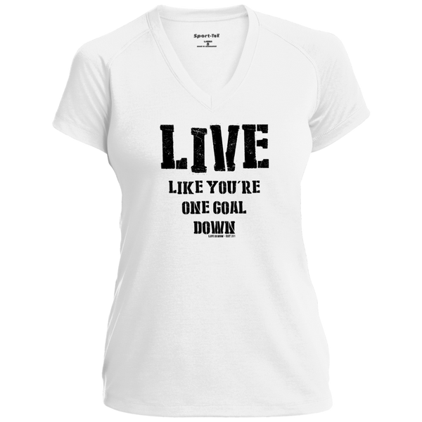 One Goal Down black Ladies' Performance T-Shirt