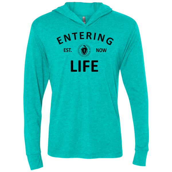 Entering LiFE Unisex Triblend LS Hooded T-Shirt