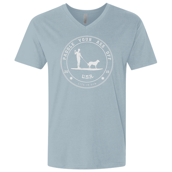 Paddle Your Ass Off Men's Premium Fitted SS V-Neck