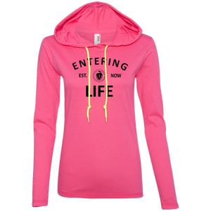 Entering LiFE Ladies' LS T-Shirt Hoodie