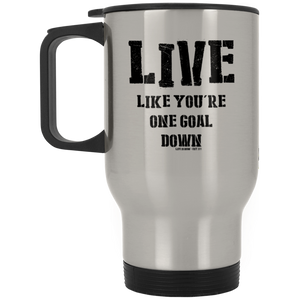 One Goal Down Silver Stainless Travel Mug