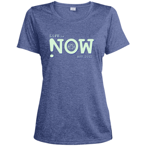 LiFE is NOW Lotus Ladies' Heather Dri-Fit Moisture-Wicking T-Shirt