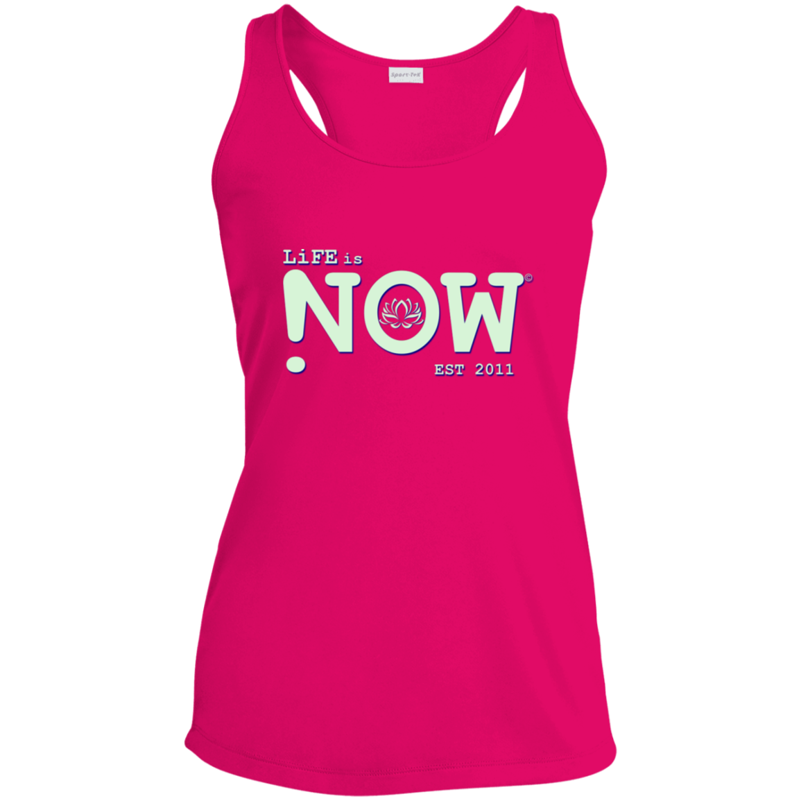 LiFE is NOW Lotus Ladies' Racerback Moisture Wicking Tank