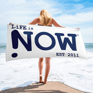 LiFE is NOW Beach Towel