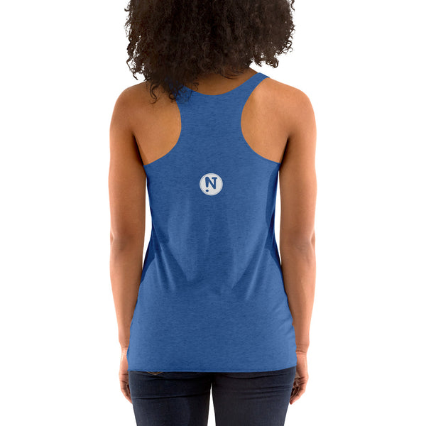 Puppy Silhouette Ladies' Triblend Racerback Tank
