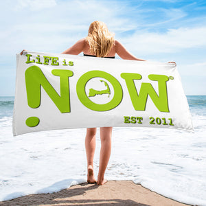 LiFE is NOW Cape Cod Beach Towel