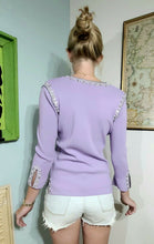Load image into Gallery viewer, Iconic 1990s Vintage Beaded Sweater Top - XS/S