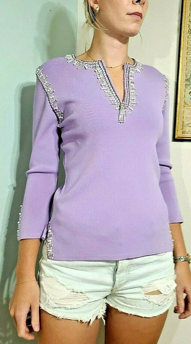 Iconic 1990s Vintage Beaded Sweater Top - XS/S