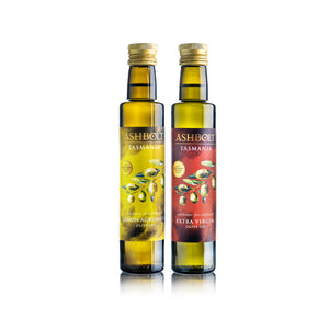 Two Lemon Agrumato and Extra virgin Olive oil bottles