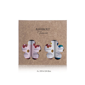 Ashbolt Elderberry & Elderflower Concentrate and others in a gift box