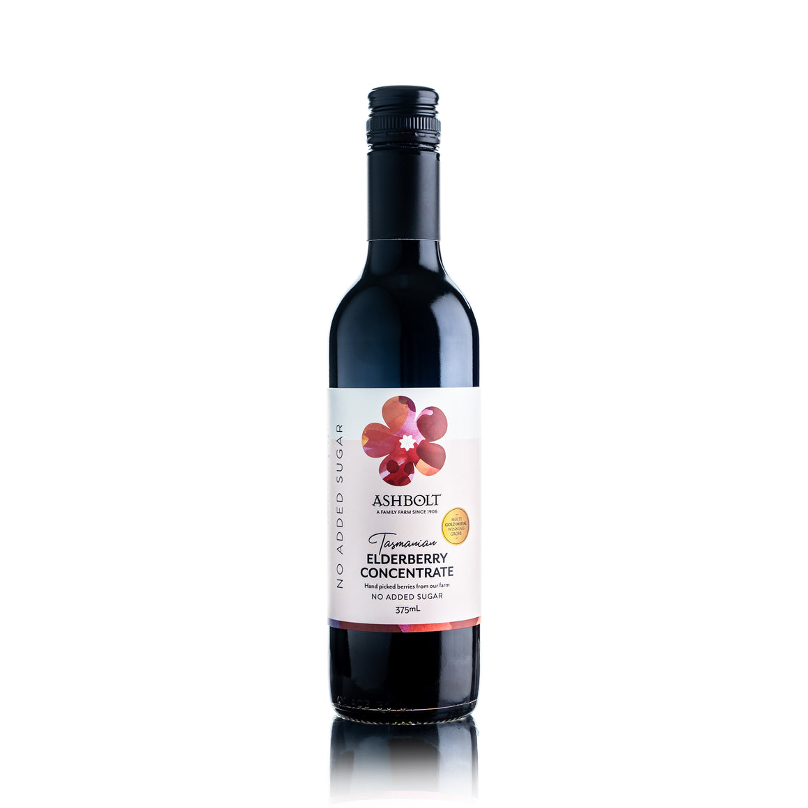 375ml Tasmanian Elderberry Concentrate no added sugar