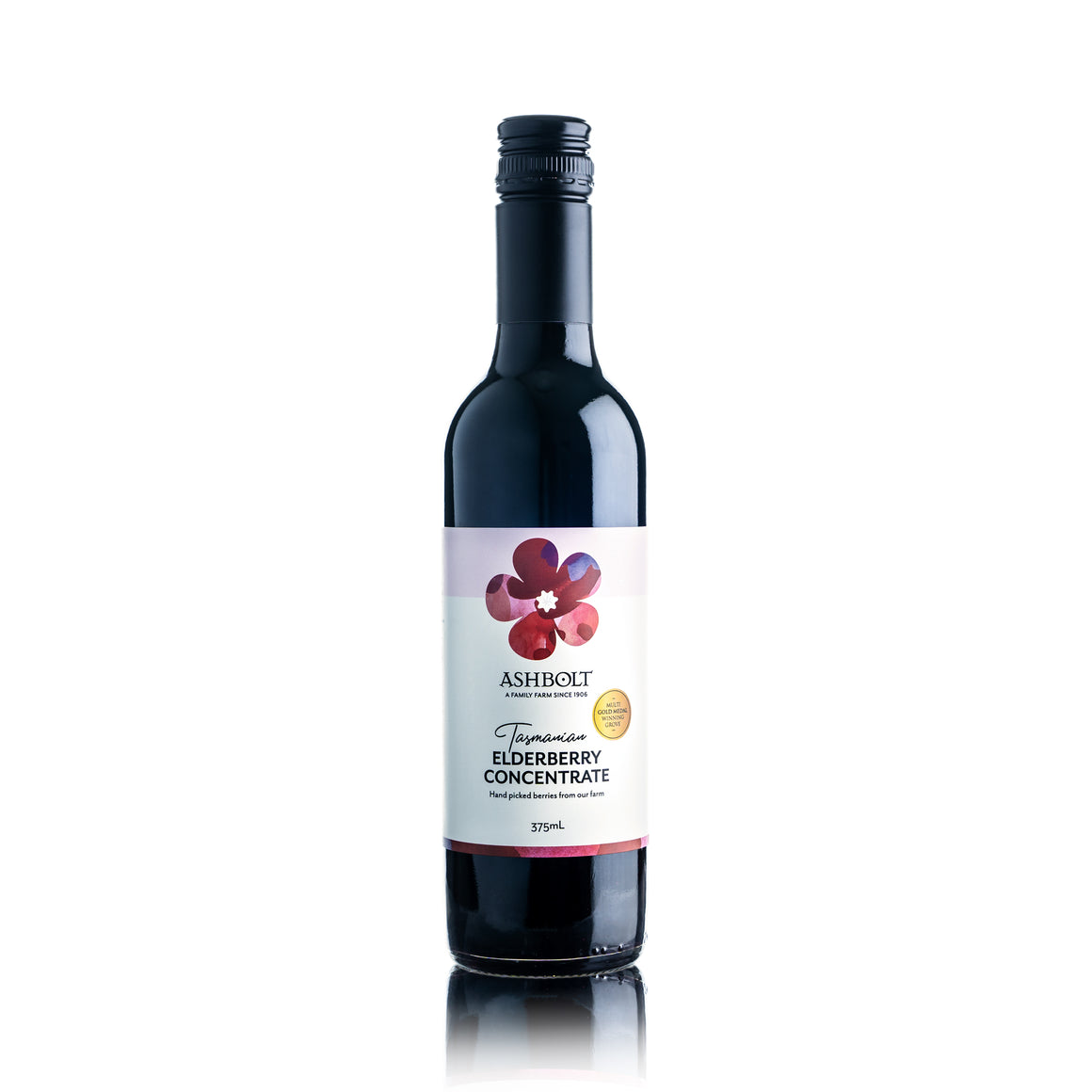 375ml of Tasmanian Elderberry Concentrate sweetened