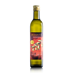 A bottle of Ashbolt Extra Virgin Olive Oil