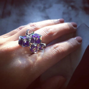 Alluringz Crystal Cube Ring - Alluringz