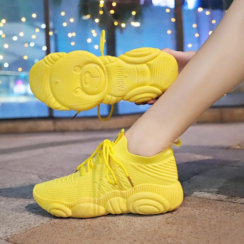 Alluring Breathable Teddy Bear Sneaker - Alluringz