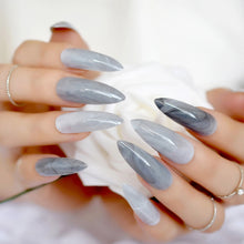 Load image into Gallery viewer, Alluringz Exquisite Marble Grey Press On Nails - Alluringz