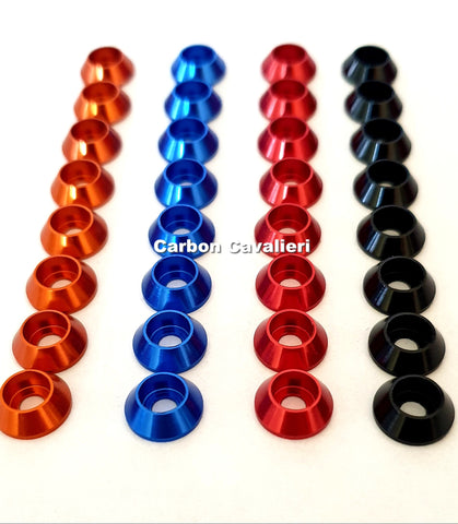 8 Pieces M3 Socket Head Screw Washer, Red Black Blue Orange