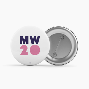 """MW 20"" White Button"