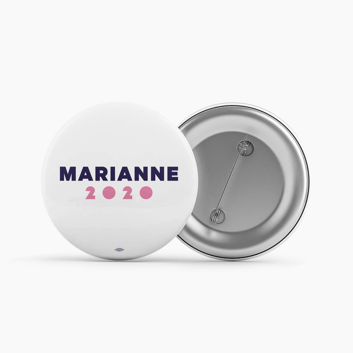 Marianne 2020 White Button