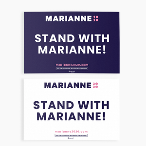 Stand With Marianne Rally Sign
