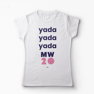 "Fitted White ""Yada"" T-Shirt"