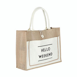 White Eco-Friendly Linen Bag. Best lifestyle product.