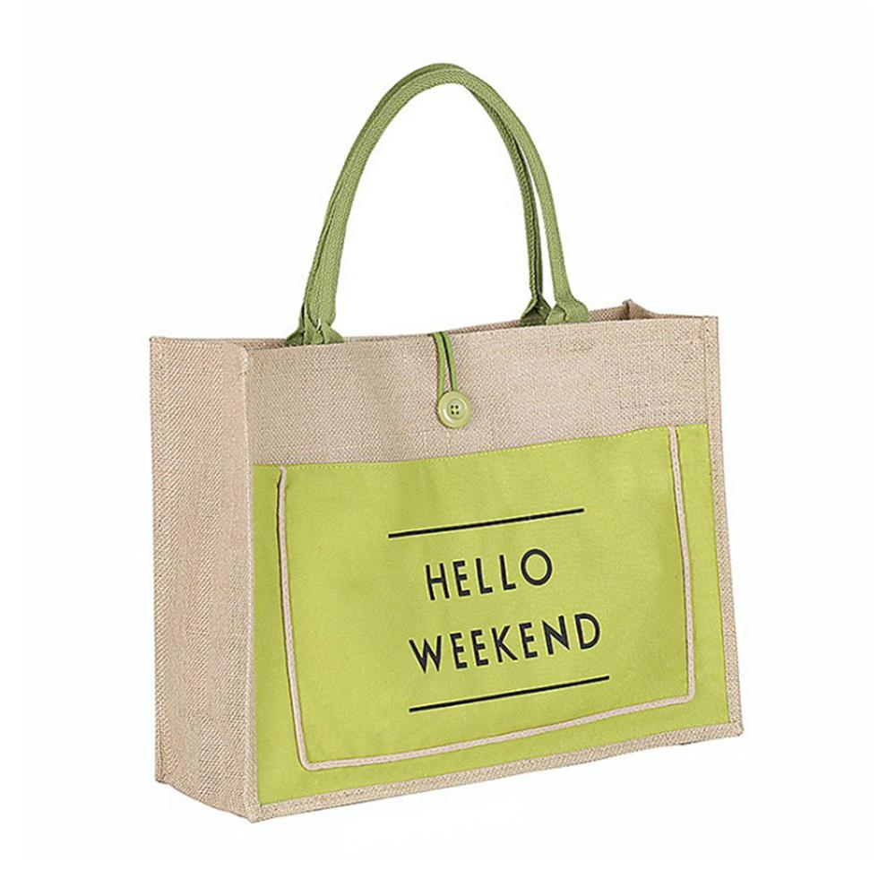 Green Eco-Friendly Linen Bag. Best lifestyle product.