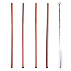 Eco-Friendly Reusable Stainless Steel Straws