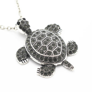 Black Turtle Pendant Necklace.